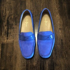 Cole Haan Purple Driving Penny Loafers